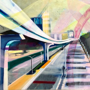 (CreativeWork) Tokyo Perspective by Alison Pilcher. #<Filter:0x00005572c053f448>. Shop online at Bluethumb.