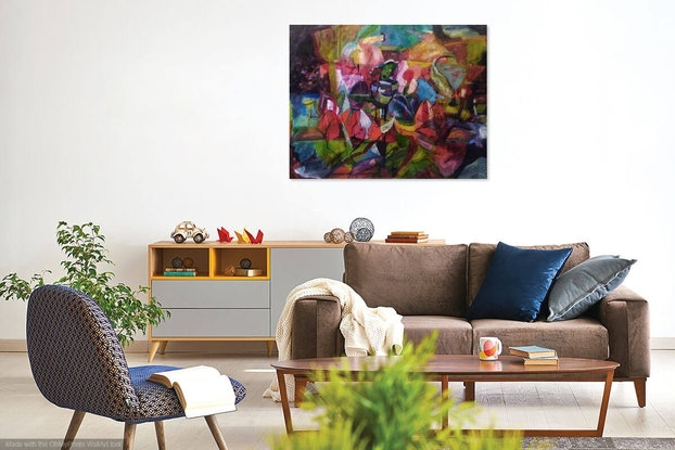 (CreativeWork) LOTUS POND by Maureen Finck. Oil Paint. Shop online at Bluethumb.