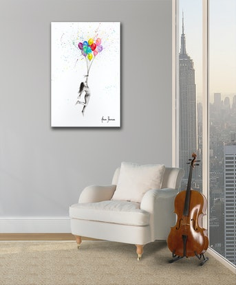 (CreativeWork) Her Big Dreams by Ashvin Harrison. Acrylic Paint. Shop online at Bluethumb.