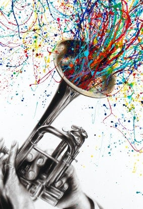 (CreativeWork) Soul of Sound by Ashvin Harrison. Acrylic Paint. Shop online at Bluethumb.