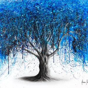 (CreativeWork) Blue Moonlight Tree by Ashvin Harrison. #<Filter:0x00005597d8c45de0>. Shop online at Bluethumb.