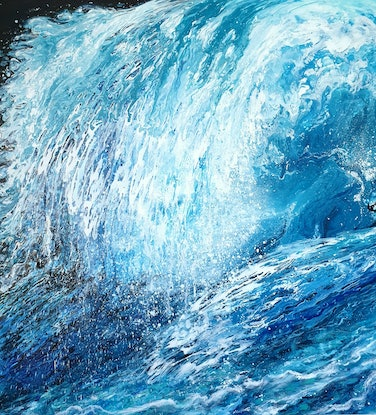 (CreativeWork) Wave by Natalia Graham. Acrylic Paint. Shop online at Bluethumb.