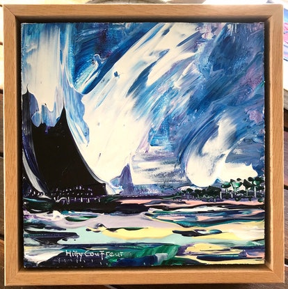 (CreativeWork) Stormy Skies by Hilly Coufreur. Acrylic Paint. Shop online at Bluethumb.