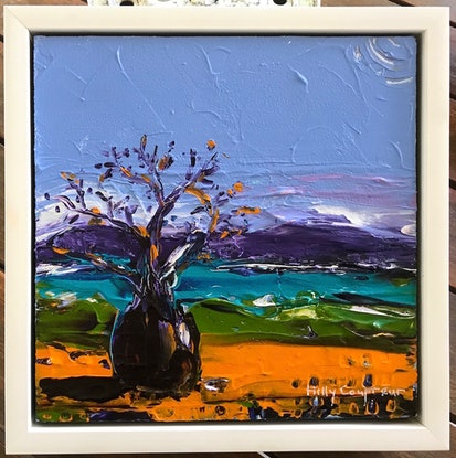 (CreativeWork) Boab Tree by Hilly Coufreur. Acrylic Paint. Shop online at Bluethumb.