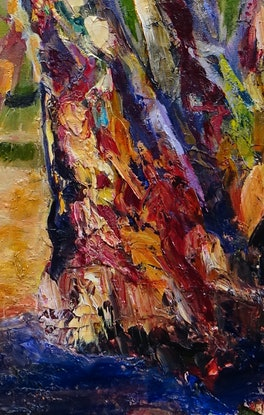 (CreativeWork) Red River Gums by Maureen Finck. Oil Paint. Shop online at Bluethumb.