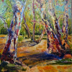 (CreativeWork) Red River Gums by Maureen Finck. #<Filter:0x000055d8420078a8>. Shop online at Bluethumb.