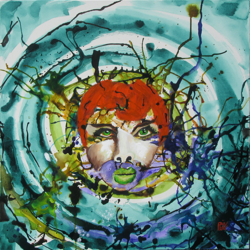 (CreativeWork) Head Space  Autumn by Lesley Taylor. Mixed Media. Shop online at Bluethumb.