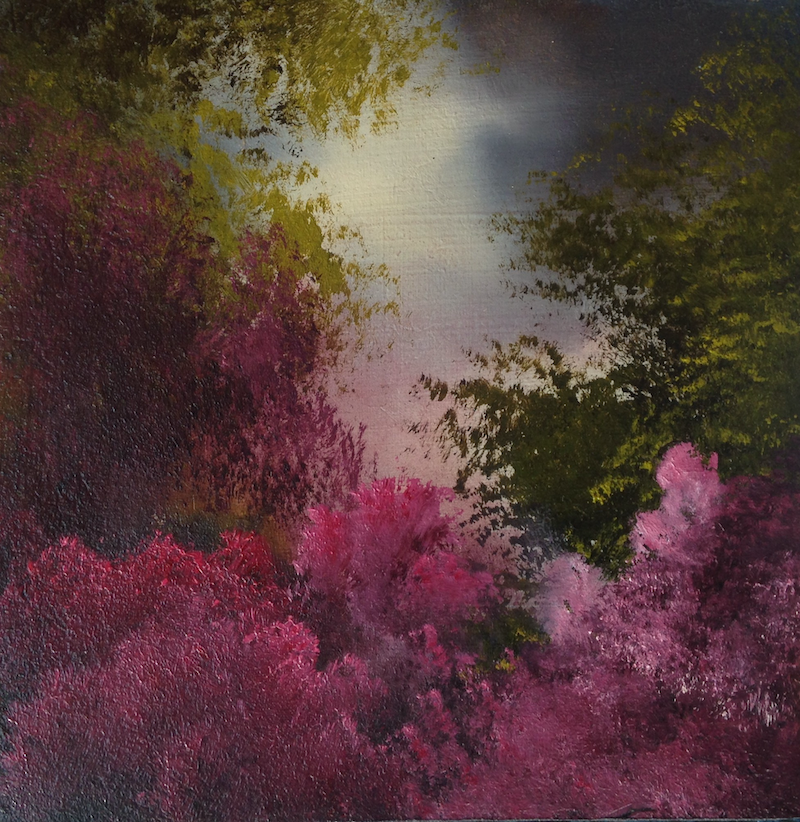 (CreativeWork) Crimson Morning by Elaine Green. Oil Paint. Shop online at Bluethumb.