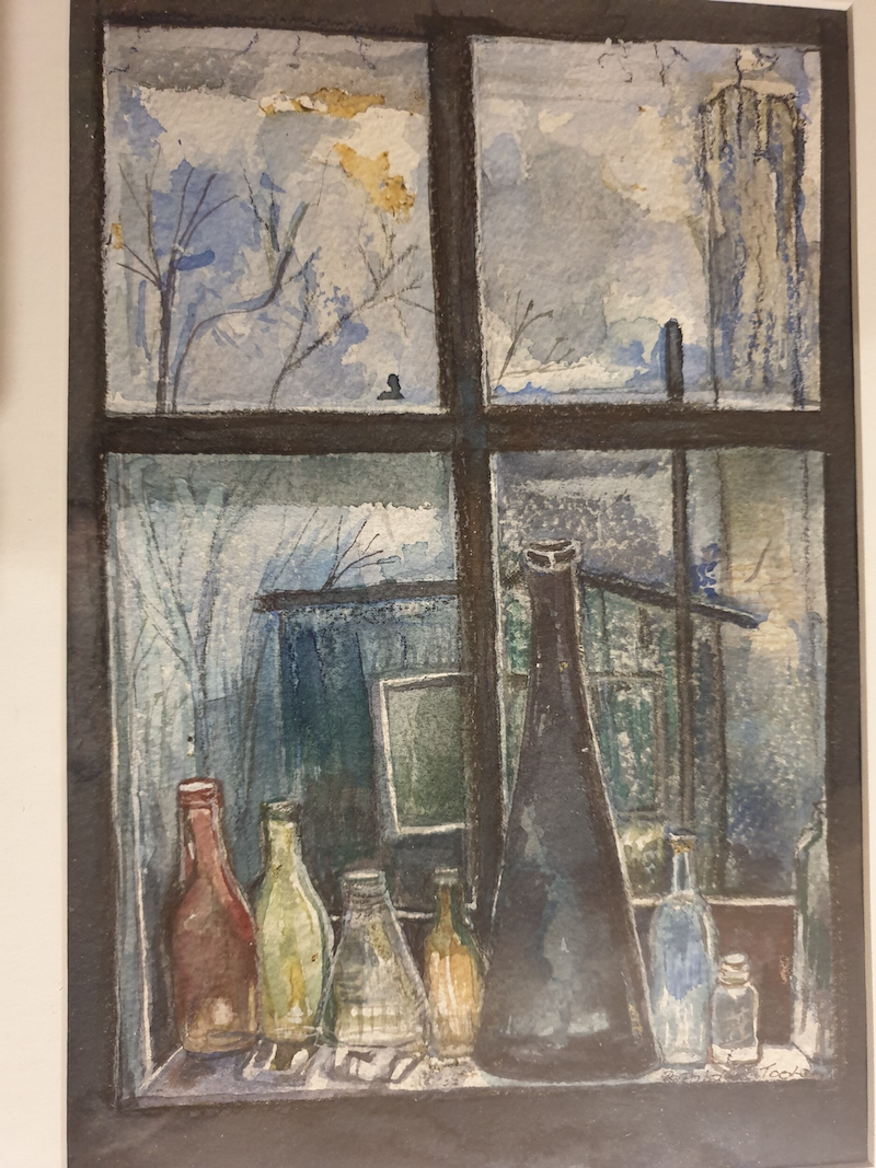 (CreativeWork) Glass Bottles by Rhonnie Toole. Watercolour Paint. Shop online at Bluethumb.