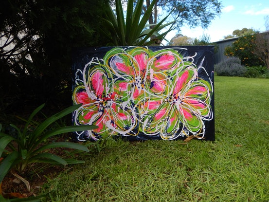 (CreativeWork) Freedom &  Fun by Kerry T. Acrylic Paint. Shop online at Bluethumb.
