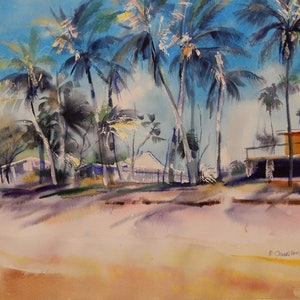 (CreativeWork) Life in the sun by Elena Churilova. watercolour. Shop online at Bluethumb.