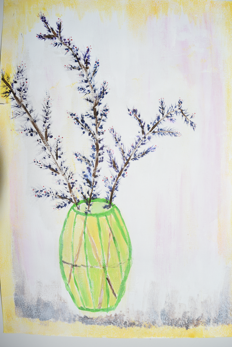 (CreativeWork) Spring in the vase by Tamara Athukorala. Acrylic Paint. Shop online at Bluethumb.