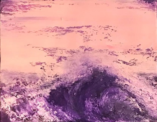 (CreativeWork) Wave 45 by Sarah Weaver. Oil Paint. Shop online at Bluethumb.