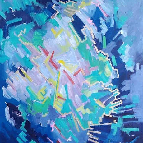 (CreativeWork) Chaos or order?  by Taya Danchenko. Oil Paint. Shop online at Bluethumb.