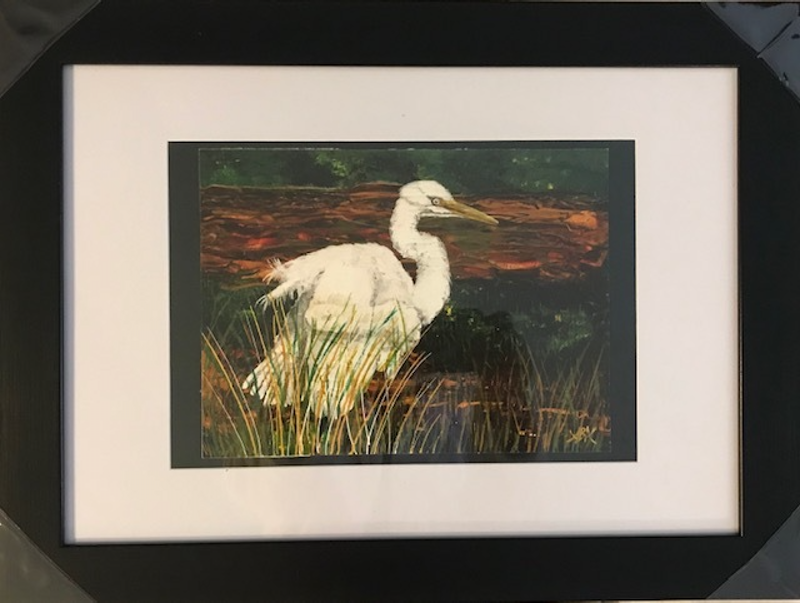 (CreativeWork) Egret in the Swamp Limited Edition Print - Framed Ed. 2 of 30 by Annette Appleby. Print. Shop online at Bluethumb.