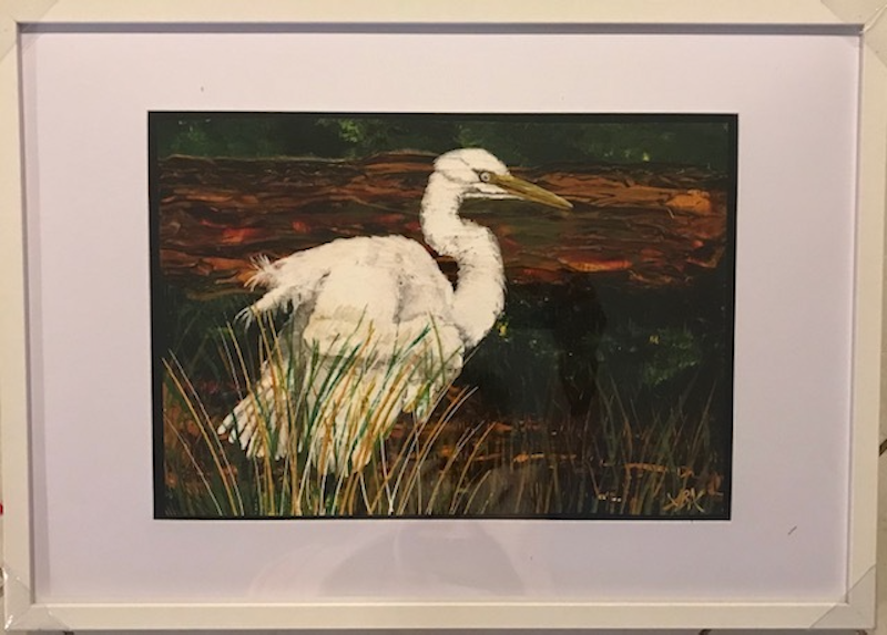 (CreativeWork) Egret in the Swamp Limited Edition Print - Framed Ed. 1 of 30 by Annette Appleby. Print. Shop online at Bluethumb.