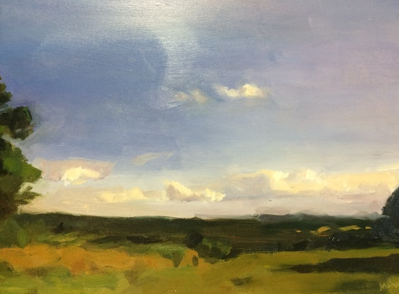 (CreativeWork) This is not a meadow (apparently) by Matilda Martin. Oil Paint. Shop online at Bluethumb.