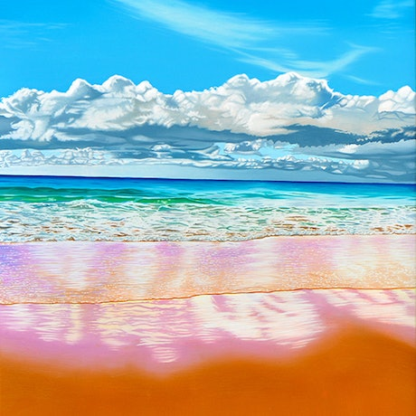 (CreativeWork) Reclaiming Paradise by Mark Kingston. Oil Paint. Shop online at Bluethumb.