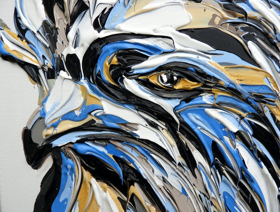 (CreativeWork) Tawny Frogmouth No.2 by Lisa Fahey. Acrylic Paint. Shop online at Bluethumb.
