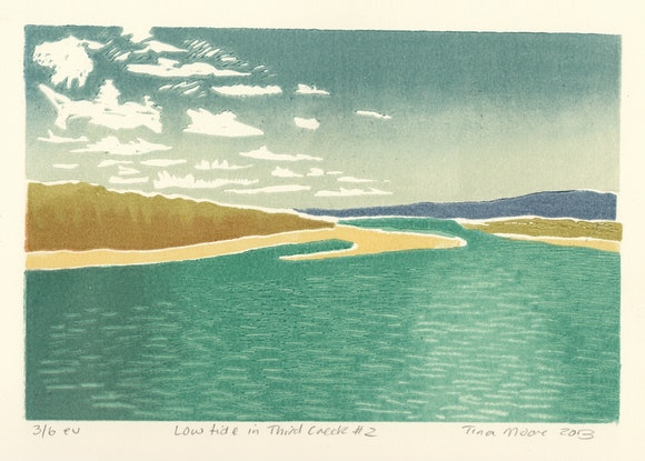 (CreativeWork) Low tide in Third Creek #2 Ed. 1 of 1 by Tina Moore. Print. Shop online at Bluethumb.