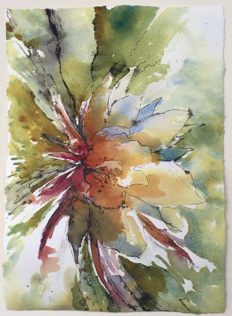 (CreativeWork) Reminiscing Summer Blooms by Rob McMullan. Mixed Media. Shop online at Bluethumb.