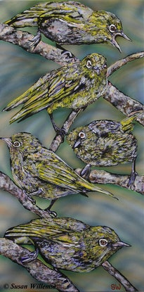 (CreativeWork) Witoogies by Susan Willemse. Acrylic Paint. Shop online at Bluethumb.