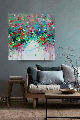 (CreativeWork) Always Yours by Belinda Nadwie. Oil Paint. Shop online at Bluethumb.