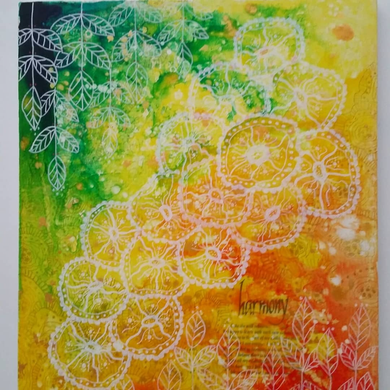 (CreativeWork) Harmony by Jan Naylor. Acrylic Paint. Shop online at Bluethumb.