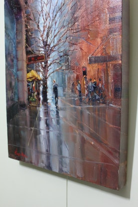 (CreativeWork) York street, Sydney by HIREN PATEL. Oil Paint. Shop online at Bluethumb.