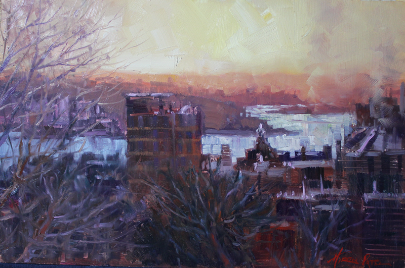 (CreativeWork) From Observatory Hill by HIREN PATEL. Oil Paint. Shop online at Bluethumb.