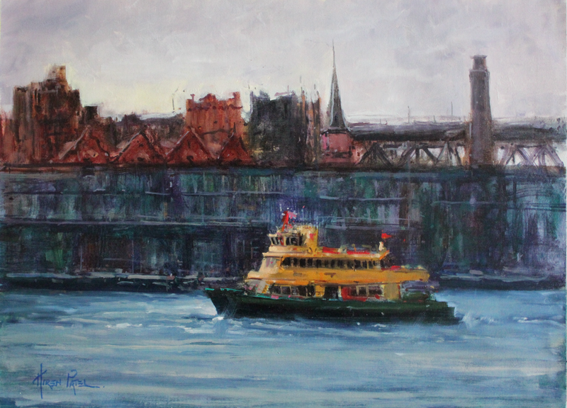 (CreativeWork) Coming into Circular Quay by HIREN PATEL. Oil Paint. Shop online at Bluethumb.