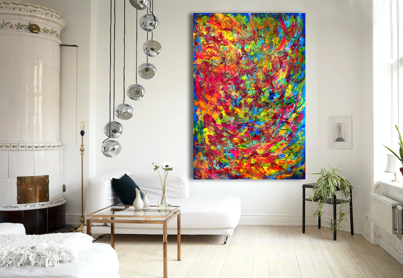 (CreativeWork) Change of Mind by Estelle Asmodelle. acrylic-painting. Shop online at Bluethumb.