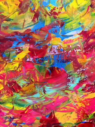 (CreativeWork) Change of Mind by Estelle Asmodelle. Acrylic Paint. Shop online at Bluethumb.