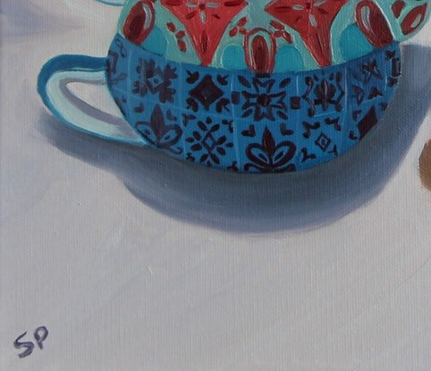 (CreativeWork) My Teapot by Sudha Palani. Oil Paint. Shop online at Bluethumb.