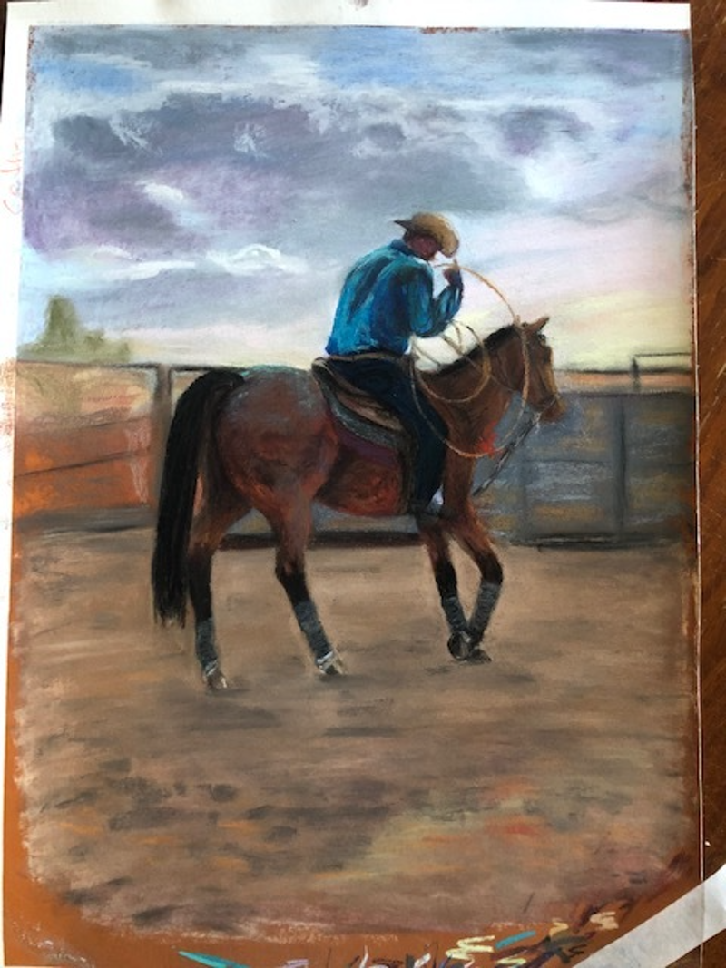 (CreativeWork) Neerim South Rodeo by Catherine Rae. Other Media. Shop online at Bluethumb.