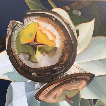 (CreativeWork) Brazen Virtue by Hayley Kruger. Acrylic Paint. Shop online at Bluethumb.