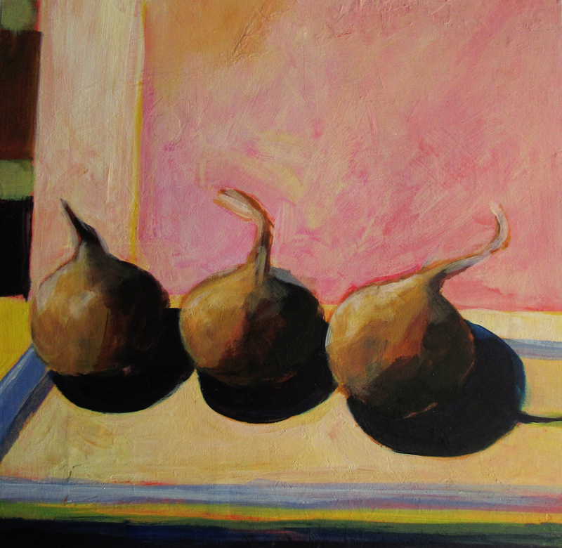 (CreativeWork) brown onions afternoon light by Helen Evans. Acrylic Paint. Shop online at Bluethumb.