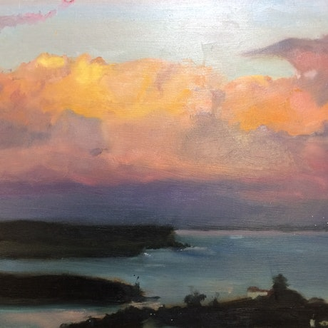 (CreativeWork) Harbour by Matilda Martin. Oil Paint. Shop online at Bluethumb.
