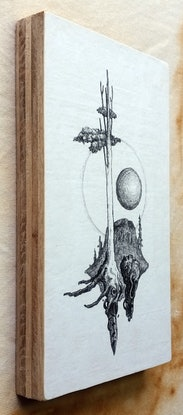 (CreativeWork) Ghost Tree with Orb by Lewis Smart. Drawings. Shop online at Bluethumb.