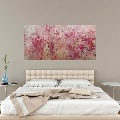 (CreativeWork) Wild Rose by Andrea Edwards. Acrylic Paint. Shop online at Bluethumb.