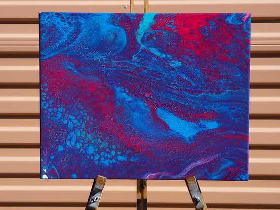 (CreativeWork) Reach the surface  by Joshua Lacy. Acrylic Paint. Shop online at Bluethumb.
