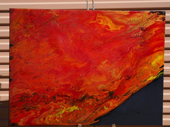(CreativeWork) Natural disaster  by Joshua Lacy. Acrylic Paint. Shop online at Bluethumb.