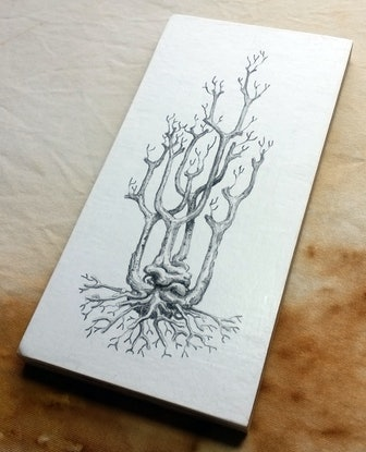 (CreativeWork) Ghost Tree by Lewis Smart. Watercolour Paint. Shop online at Bluethumb.