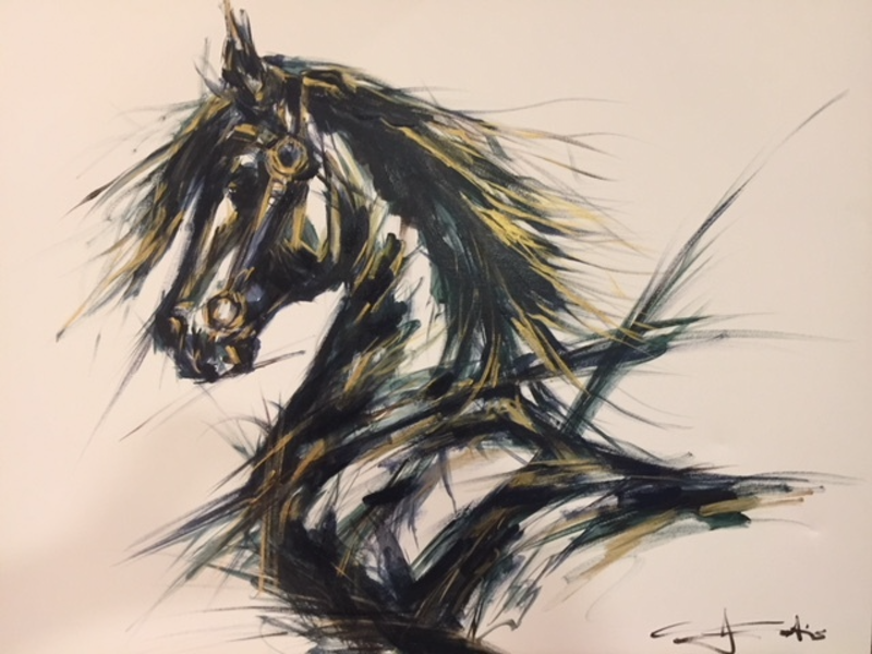 (CreativeWork) Magnificent by Christine Curtis. Acrylic Paint. Shop online at Bluethumb.