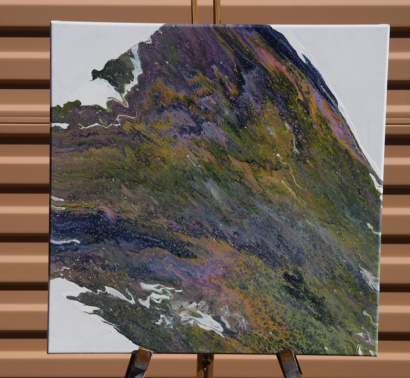 (CreativeWork) Landslide  by Joshua Lacy. Acrylic Paint. Shop online at Bluethumb.