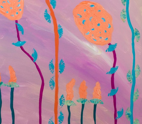 (CreativeWork) Nature in Harmony by Helen Joynson. Acrylic Paint. Shop online at Bluethumb.