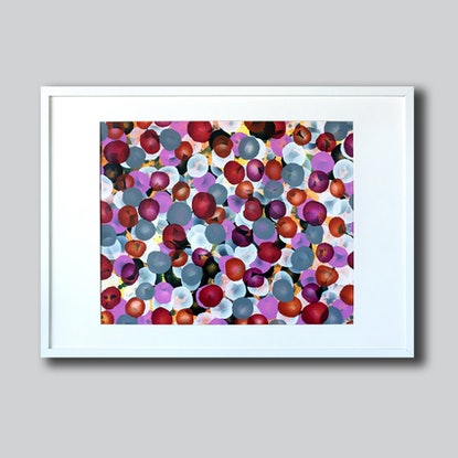 (CreativeWork) Vitae Field - Pop, Original Abstract Painting by Jacquelyn Stephens. Acrylic Paint. Shop online at Bluethumb.