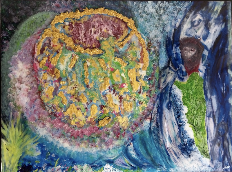 (CreativeWork) Creation by Aileen Smith. Acrylic Paint. Shop online at Bluethumb.