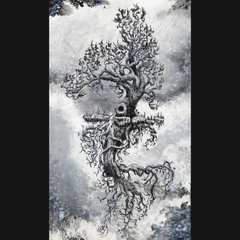(CreativeWork) Ghost Tree by Lewis Smart. Mixed Media. Shop online at Bluethumb.