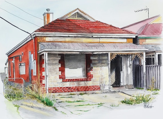 (CreativeWork) Thebarton Smith Street Adelaide Ed. 5 of 30 by Chelle Destefano. Print. Shop online at Bluethumb.